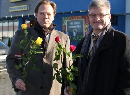 SPD verteilt zum Valentinstag fair gehandelte Rosen